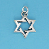Sterling Silver Open Six Point Star Charm - Charmworks