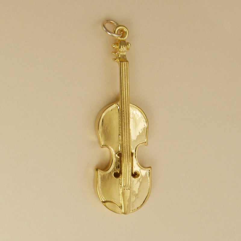 Gold Vermeil Violin Pendant - Charmworks