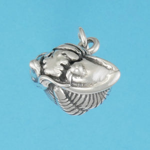 Sterling Silver Trilobite Charm - Charmworks