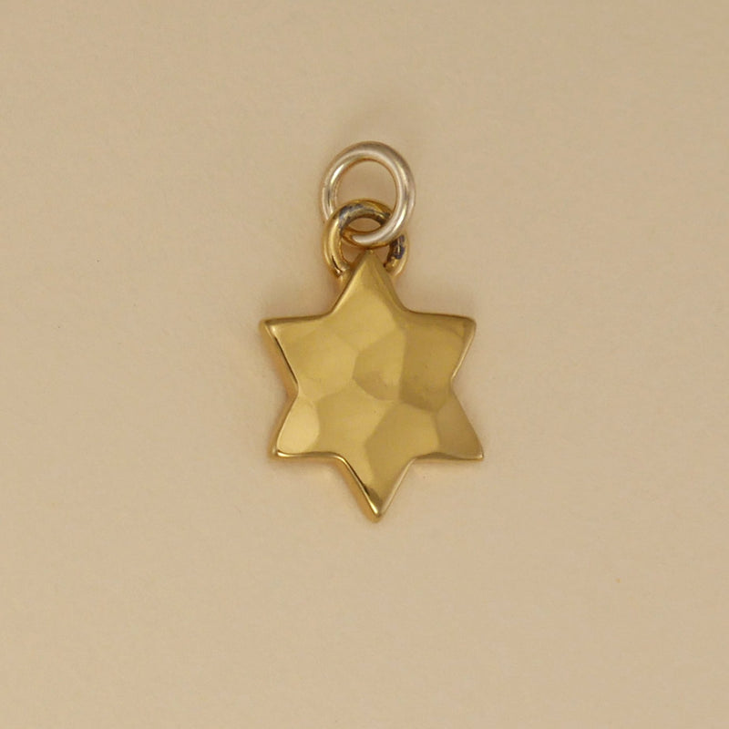 Gold Vermeil Solid Six Point Star Charm - Charmworks