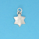 Sterling Silver Solid Six Point Star Charm - Charmworks