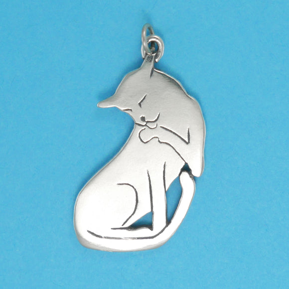 US made sterling silver vogue cat charm.