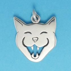 Laughing Cat Face Charm - Charmworks