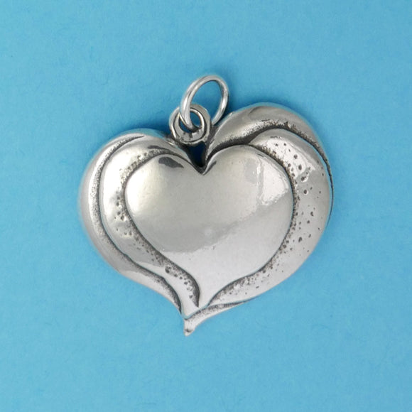 Sterling Silver Triple Heart Charm - Charmworks