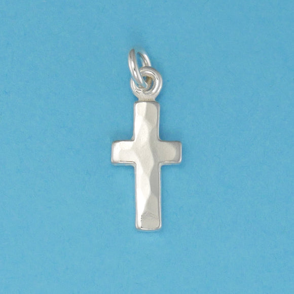 Hammer Faced Cross Charm - Charmworks