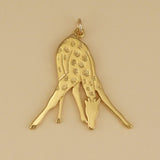 Giraffe At The Watering Hole Charm - Charmworks