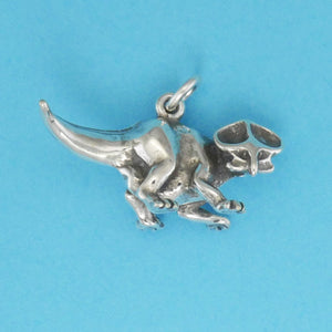 Sterling Silver Protoceratops Charm - Charmworks