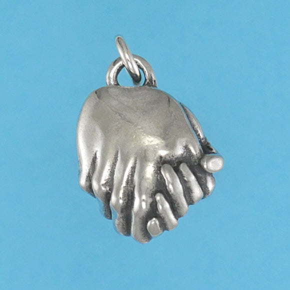 Clasped Hands Charm - Charmworks