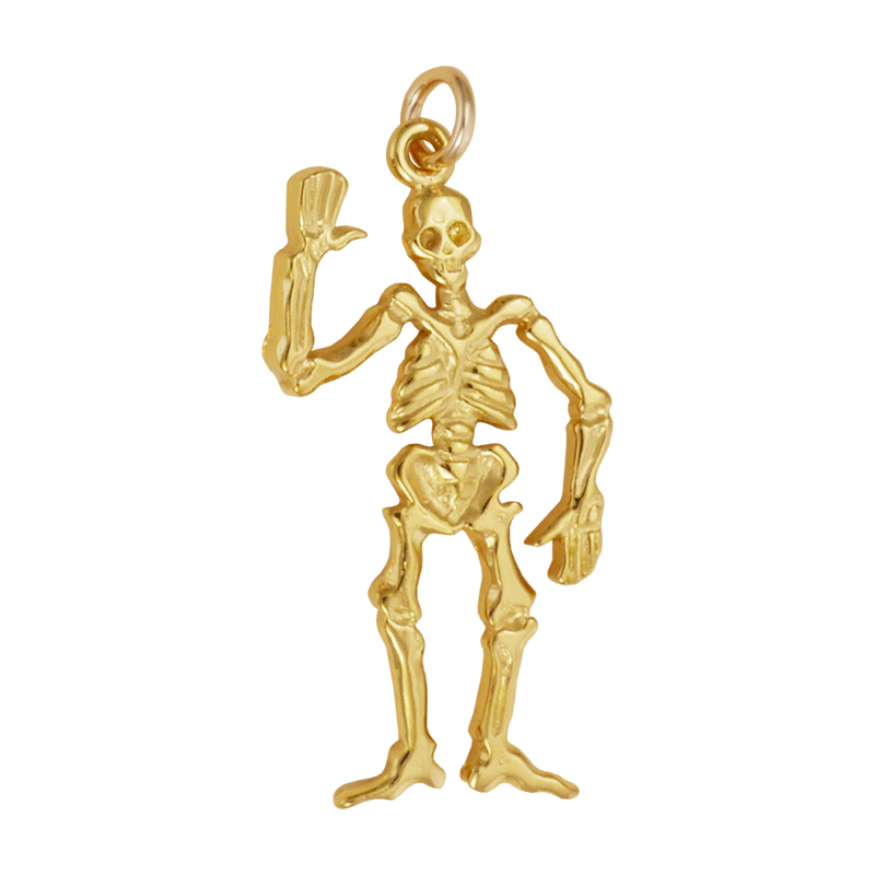 Skeleton Waving Charm - Charmworks