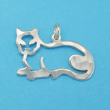Lying Down Cat Charm - Charmworks