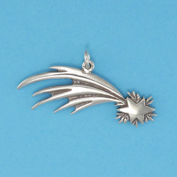 Sterling Silver Shooting Star Charm - Charmworks