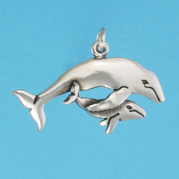 Humpback Whale Mother And Calf Charm - Charmworks