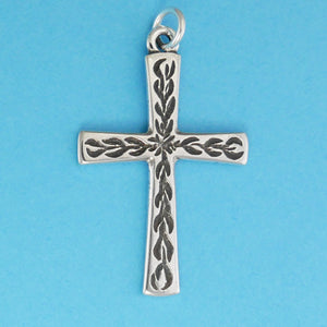 Flame Cross Pendant - Charmworks