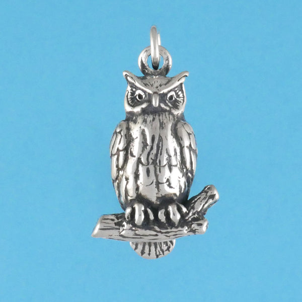 Great Horned Owl Pendant - Charmworks