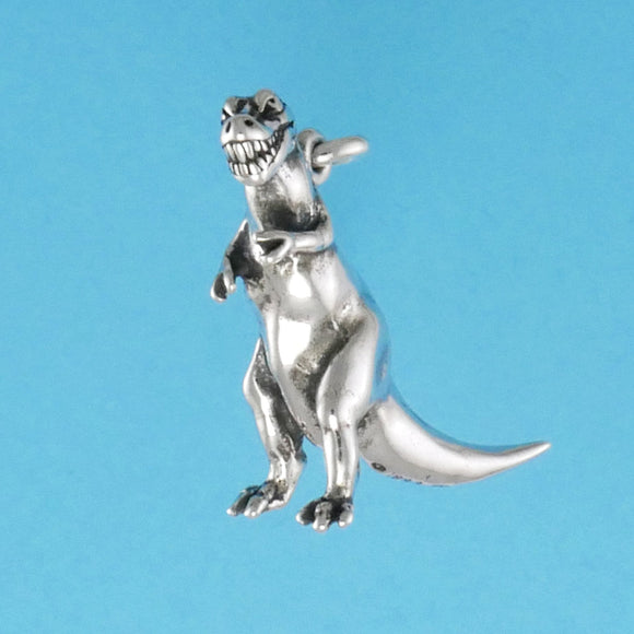 Sterling Silver Tyrannosaurus Rex Charm - Charmworks