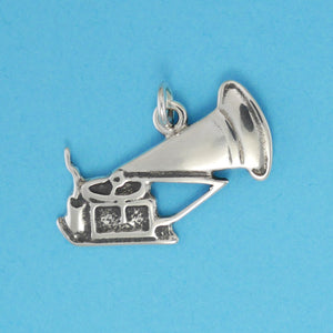 Sterling Silver Phonograph Charm - Charmworks