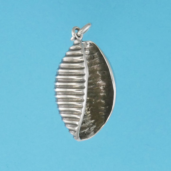US made sterling silver pasta shell charm.