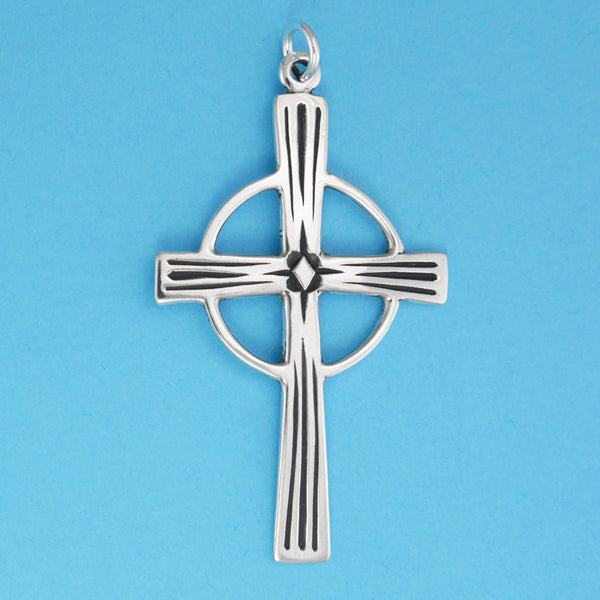 Lined Celtic Cross Pendant - Charmworks