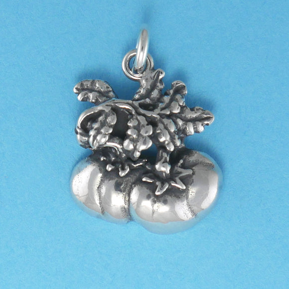 US made sterling silver tomatoes charm.