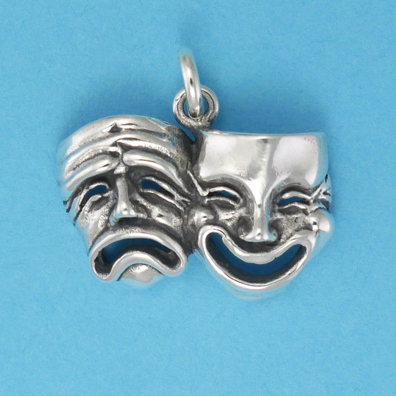 Comic And Tragic Mask Charm - Charmworks