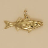 Gold Vermeil Striped Bass Charm - Charmworks