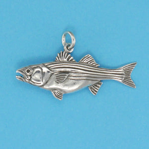 Sterling Silver Striped Bass Charm - Charmworks