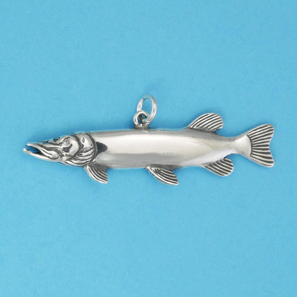 Sterling Silver Silver Pike Charm - Charmworks