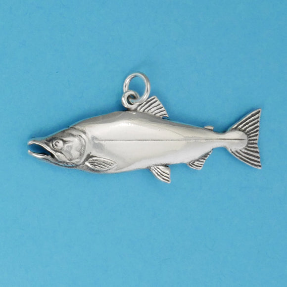 Sterling Silver Salmon Charm - Charmworks
