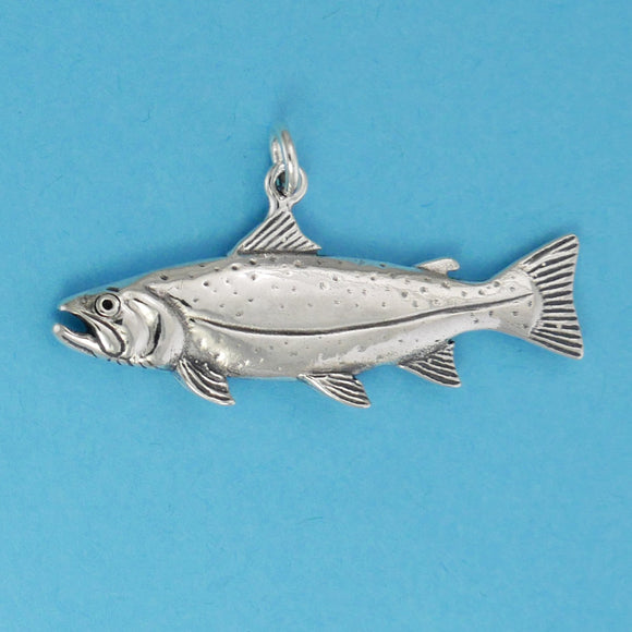 Sterling Silver Trout Charm - Charmworks
