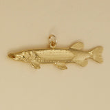 Gold Vermeil Northern Pike Charm - Charmworks