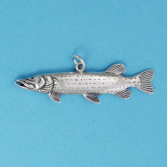 Sterling Silver Northern Pike Charm - Charmworks