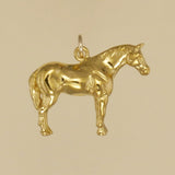 US made gold vermeil quarter horse charm.