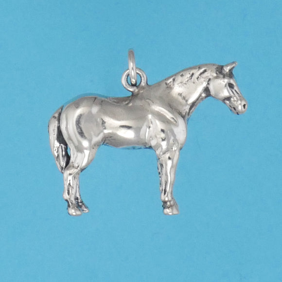US made sterling silver quarter horse charm.