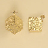 US made gold vermeil sugar cube charm.