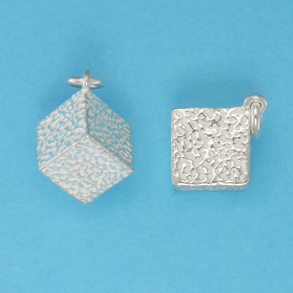 US made sterling silver sugar cube charm.