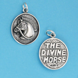 US made sterling silver divine horse charm.