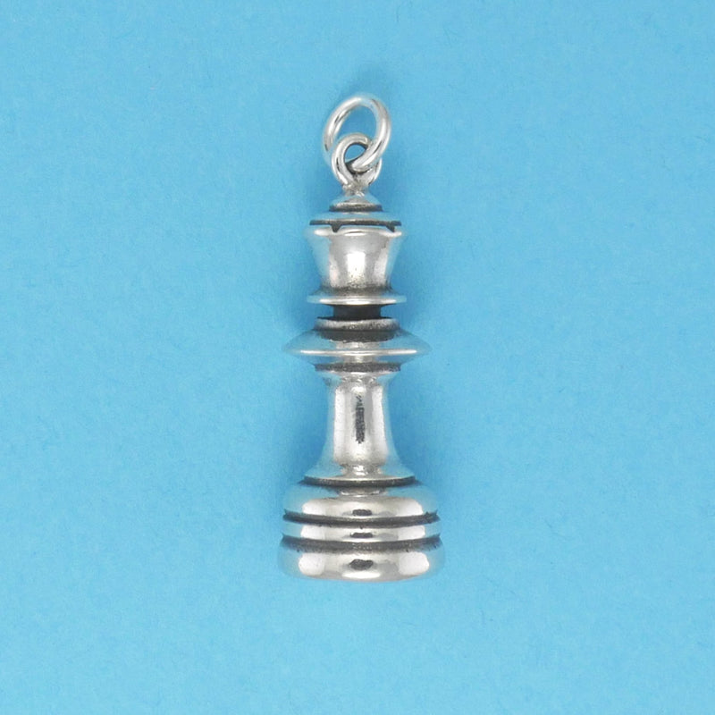 Sterling Silver Queen Chess Piece Charm - Charmworks