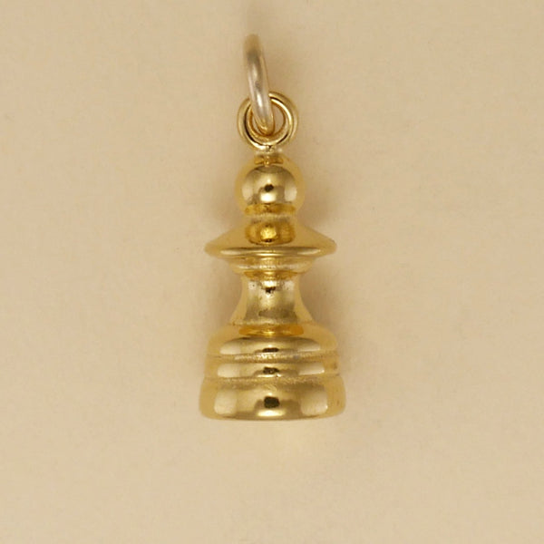 Gold Vermeil Pawn Chess Piece Charm - Charmworks