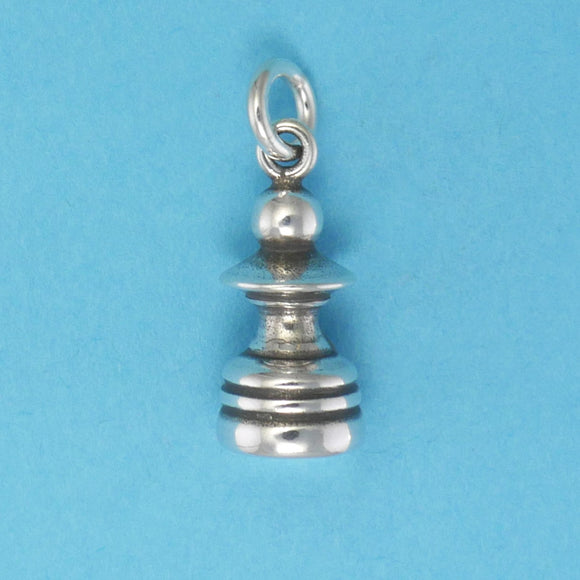 Sterling Silver Pawn Chess Piece Charm - Charmworks