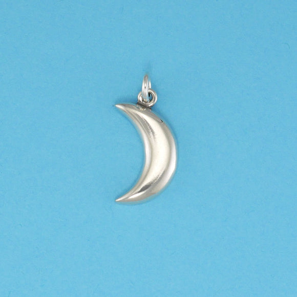 Sterling Silver Moon Symbol Charm - Charmworks