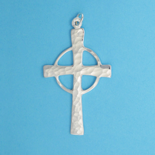 Hand Hammered Celtic Cross Pendant - Charmworks