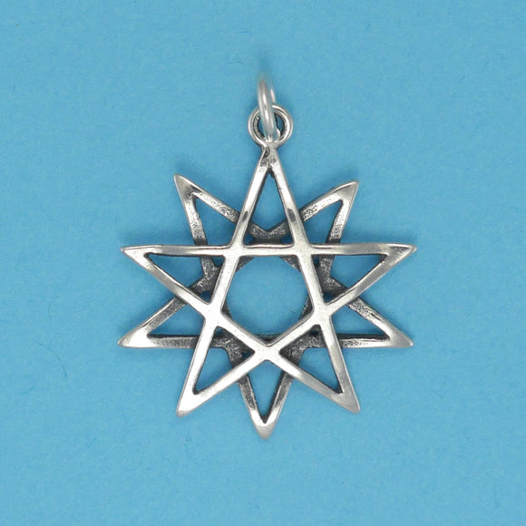Sterling Silver Ten Point Star Charm - Charmworks
