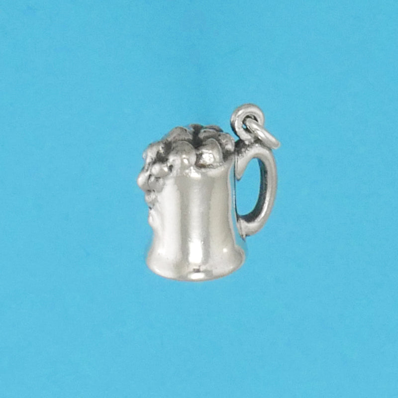 US made sterling silver mug of beer charm.