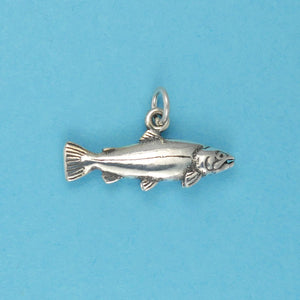 Sterling Silver Rainbow Trout Charm - Charmworks