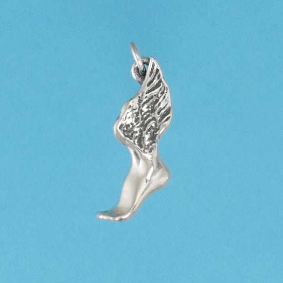 Sterling Silver Winged Foot Charm - Charmworks