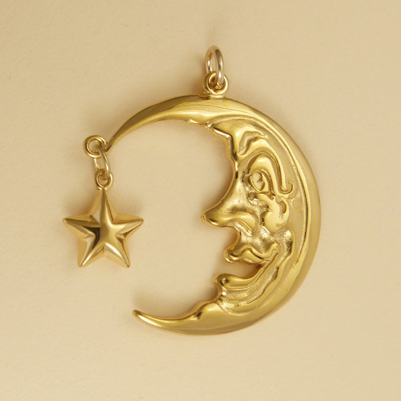 Moon Face Pendant - Charmworks