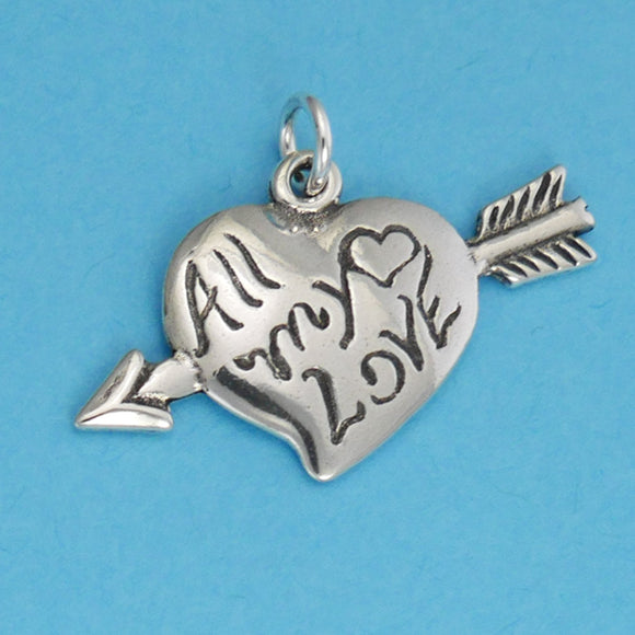 All My Love Heart Charm - Charmworks