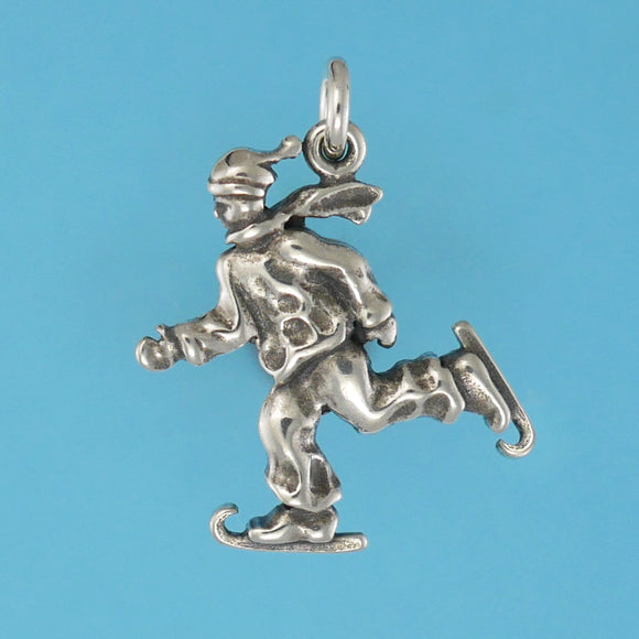Sterling Silver Skater Charm - Charmworks