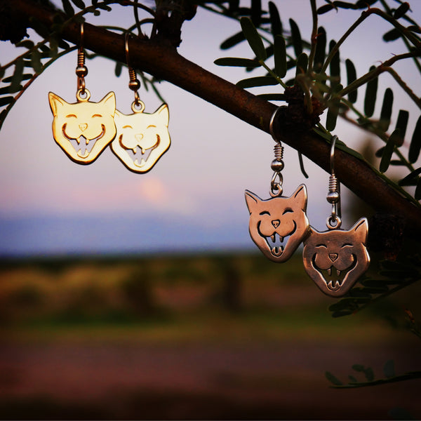 Cackling Cat Earrings - Charmworks