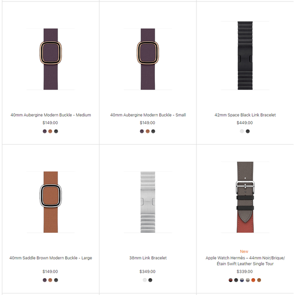 expensive Apple Watch original bands from Apple website